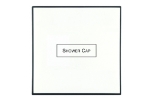 White & Black Shower Cap