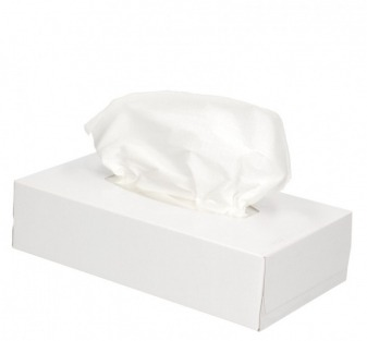 Tissue box vulling